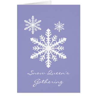 Copo de nieve de Minnesnowta Tarjeta De Felicitación