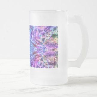 Copo de nieve de neón taza de cristal