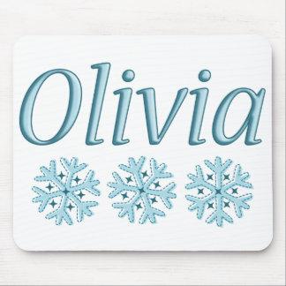 Copo de nieve de Olivia Alfombrillas De Ratón