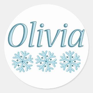 Copo de nieve de Olivia Pegatinas