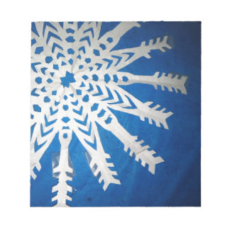 Copo de nieve de papel bloc de notas
