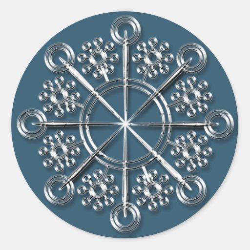 Copo de nieve de plata 3 - pegatinas del día de fi