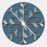 Copo de nieve de plata 6 - pegatinas del día de fi