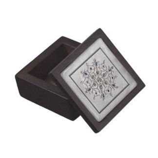 Copo de nieve de plata de la gema cajas de recuerdo de calidad