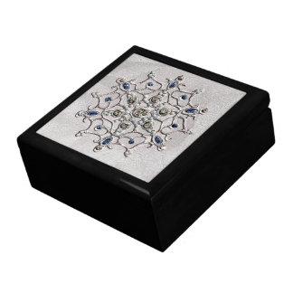 Copo de nieve de plata de las gemas cajas de regalo