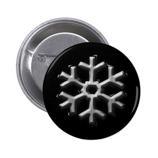 Copo de nieve de plata pin