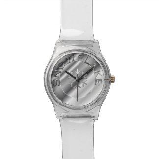 Copo de nieve de plata relojes de pulsera