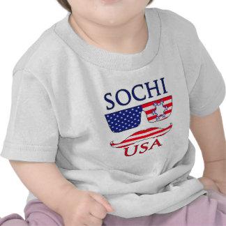 Copo de nieve de Sochi los E E U U Camisetas