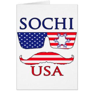 Copo de nieve de Sochi los E.E.U.U. Tarjeta De Felicitación