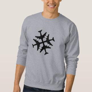 Copo de nieve del aeroplano suéter