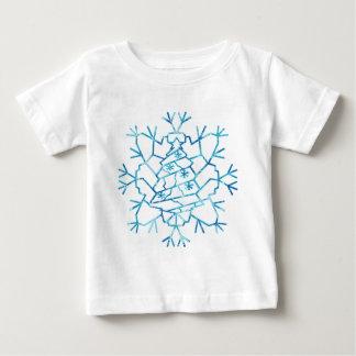 Copo de nieve del árbol de navidad camisas