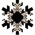 Copo de nieve del arte del fractal con mini Cyrsta Escultura Fotografica