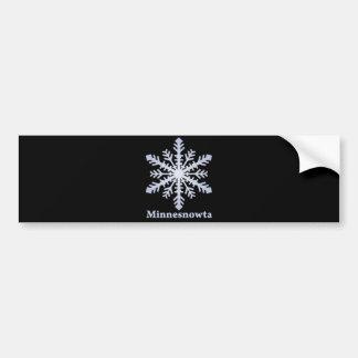 Copo de nieve del azul de Minnesnowta Etiqueta De Parachoque