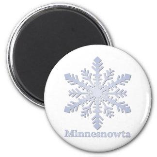 Copo de nieve del azul de Minnesnowta Imán Redondo 5 Cm