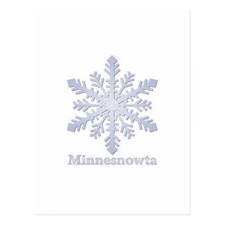 Copo de nieve del azul de Minnesnowta Postal
