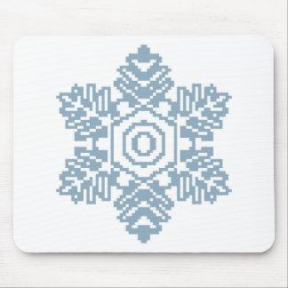 Copo de nieve del azul del arte del pixel alfombrilla de raton