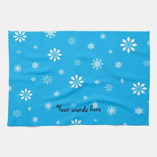 Copo de nieve del azul y del blanco de cielo toalla