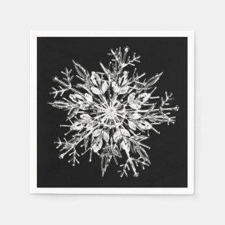 Copo de nieve del cristal de hielo servilleta desechable