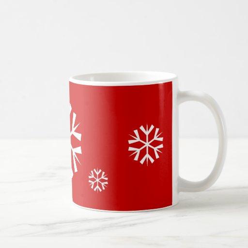 Copo de nieve del día de fiesta de la taza el |