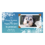 Copo de nieve del día de fiesta del navidad tarjetas fotograficas