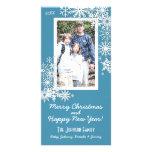Copo de nieve del día de fiesta del navidad tarjetas fotográficas personalizadas