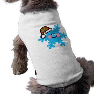 Copo de nieve del dibujo animado del invierno camisetas de mascota