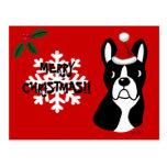 Copo de nieve del dibujo animado del navidad de Bo Tarjeta Postal