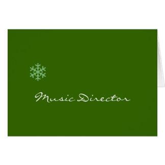 Copo de nieve del director musical felicitación