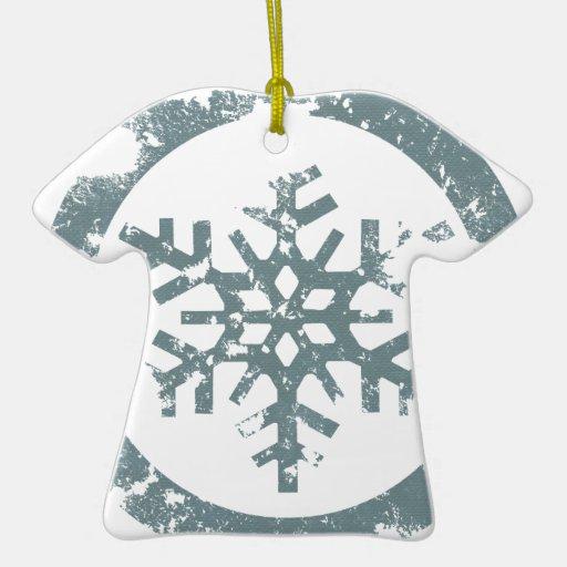 Copo de nieve del Grunge Adorno De Cerámica En Forma De Camiseta