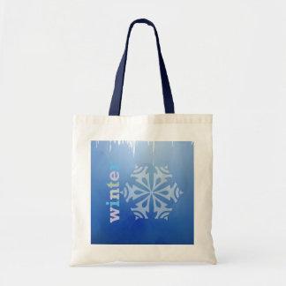 Copo de nieve del invierno bolsa de mano