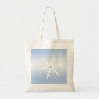 Copo de nieve del invierno bolsa tela barata