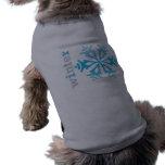 Copo de nieve del invierno camiseta de mascota