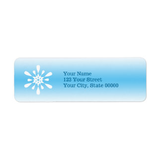 Copo de nieve del invierno etiqueta de remitente