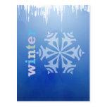 Copo de nieve del invierno postales