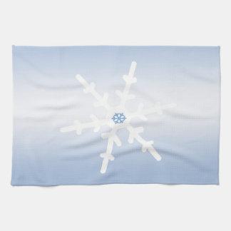 Copo de nieve del invierno toallas de cocina