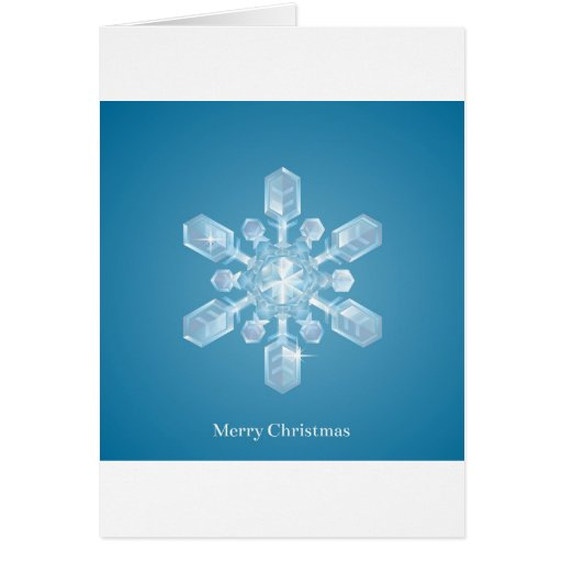 Copo de nieve del navidad felicitación
