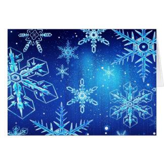Copo de nieve del navidad tarjeta de felicitación