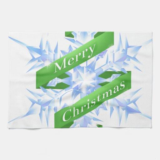 Copo de nieve del navidad toallas de cocina