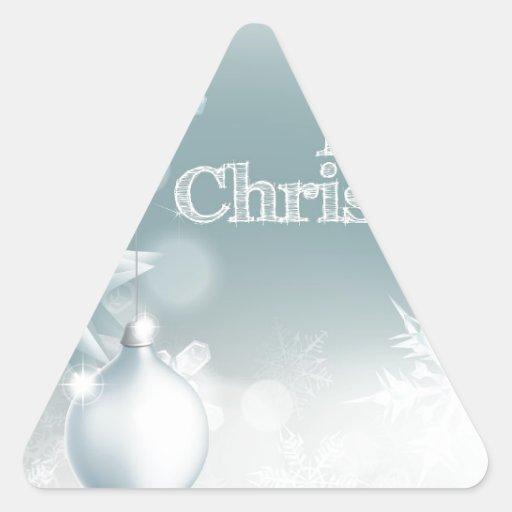 Copo de nieve del navidad y fondo de la decoración pegatinas de triangulo