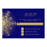 Copo de nieve del oro en el invierno azul que casa invitacion personalizada