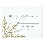 Copo de nieve del oro que casa la tarjeta de la invitación 10,8 x 13,9 cm