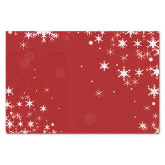 Copo de nieve del rojo del navidad papel de seda pequeño