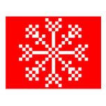 copo de nieve del videojuego de 8 pedazos postal