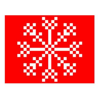 copo de nieve del videojuego de 8 pedazos tarjeta postal
