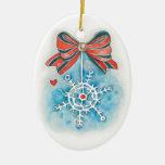 Copo de nieve delicado adornos de navidad