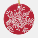 Copo de nieve en rojo ornamentos de reyes