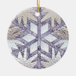 Copo de nieve en vitral adorno de reyes
