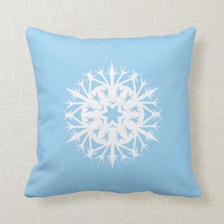 Copo de nieve espinoso cojin