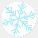 copo de nieve etiqueta redonda