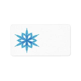 Copo de nieve etiquetas de dirección